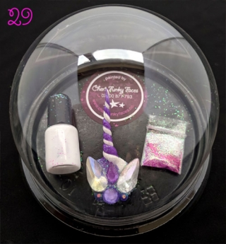 029 Purple & White