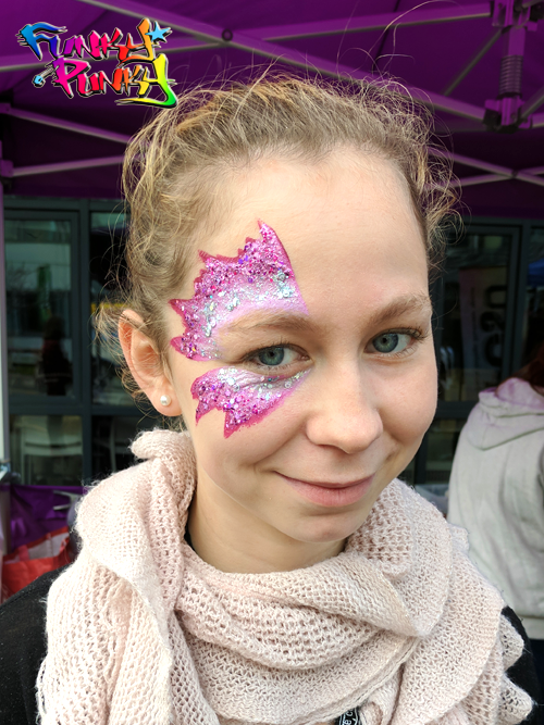 Pink Glitter Art Eye Decal Bournemouth Poole College Funky Punky