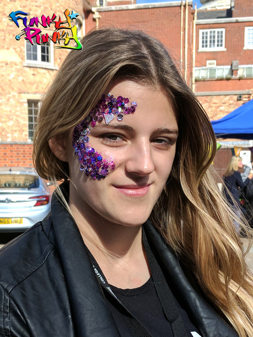 Purple Glitter Art Bournemouth Poole College Freshers Fair Funky Punky