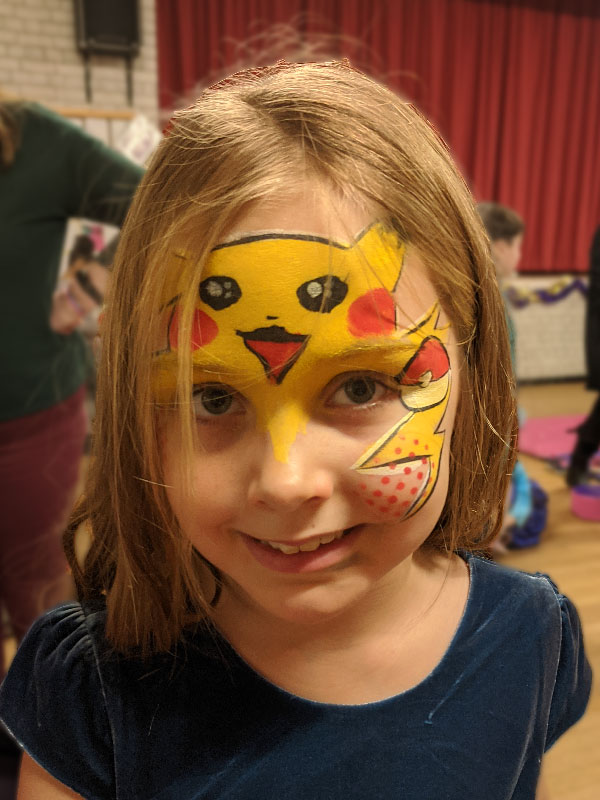Pikkachu Face Paint